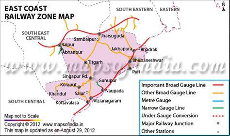 East Coast Railway Zone India Map