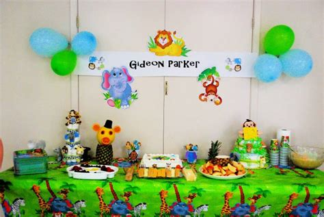 Decorating Ideas For Baby Shower Jungle Theme 31 Jungle Theme Baby Shower Table Decoration Ideas