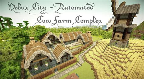My Cool House Plans automated cow farm complex minecraft project