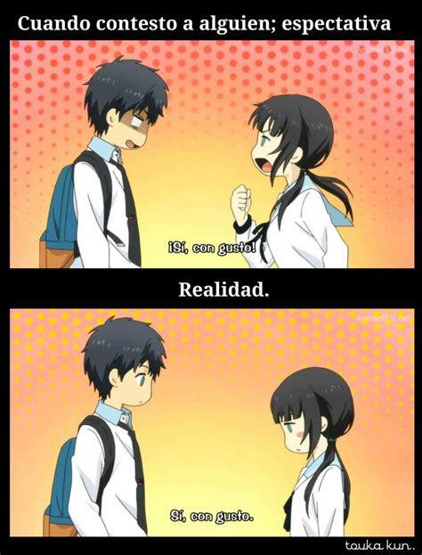 imagenes anime meme memes anime espectativa vs realidad by touka kun frases
