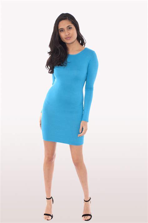 Sleeve Bodycon Dress turquoise sleeve bodycon dress dresses modamore