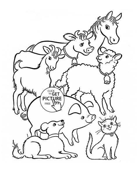 Printable Animal Coloring Pages by Farm Animals Coloring Page For Animal Coloring Pages