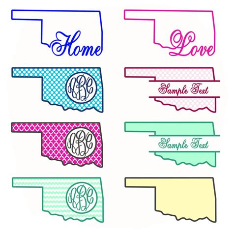 sooner state pattern works blackwell ok oklahoma home state svg cuttable designs