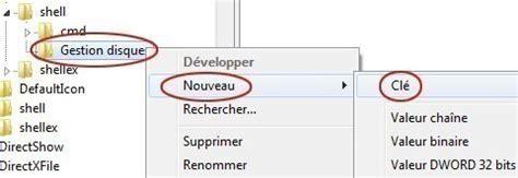 application bureau windows 7 ajouter une application dans le menu clic droit du bureau