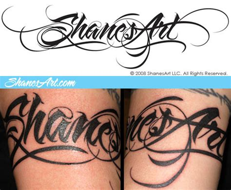 tattoo letter font fonts and lettering