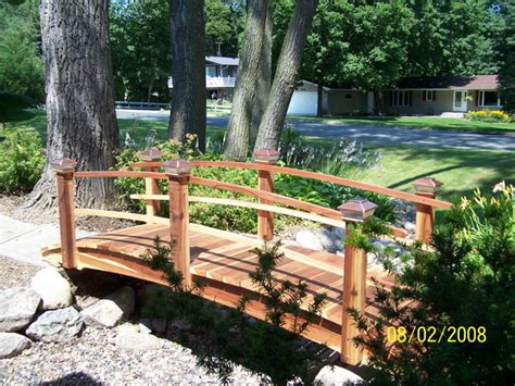 redwood garden bridges turning gardens into works of