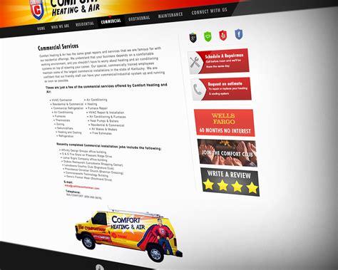 comfort heating and air lexington ky lexington s comfort heating air website design and