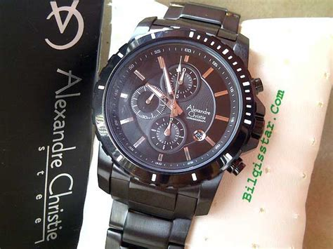Alexandre Christie 6141 Mc Original alexandre christie 6141 mc stainless steel black