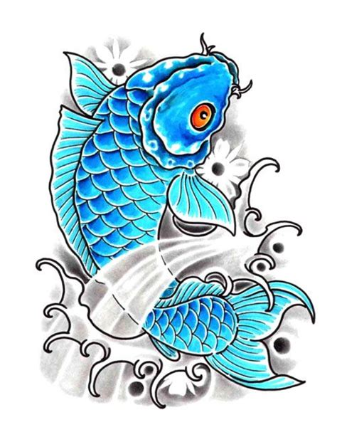 baby blue tattoo baby blue koi fish jpg 501 215 649 back cover up