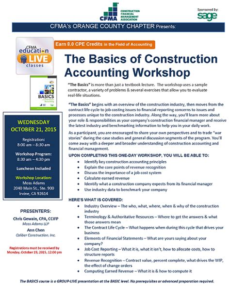 basics of construction accounting connection cafe