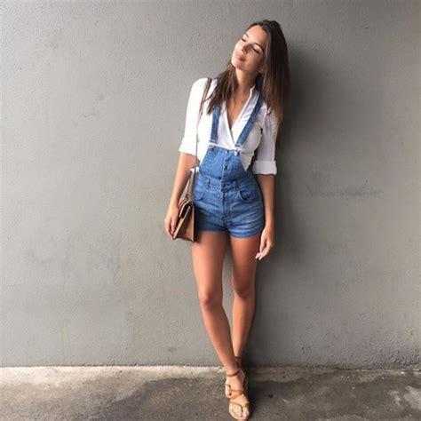 Emelly Dress Ori Overall Dress Modis shorts denim sandals emily ratajkowski instagram