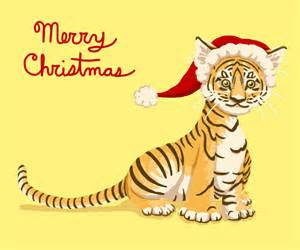merry tiger christmas by ritabuuk on deviantart