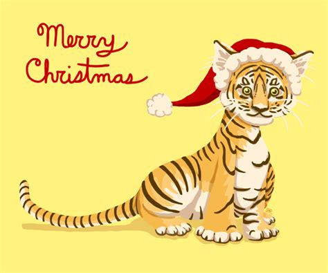 merry tiger christmas by ritabuuk on deviantart