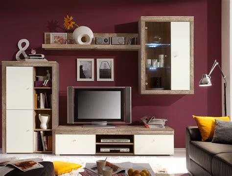 wohnzimmermöbel eiche wohnwand lamount a 289x202x50cm eiche magnolie schrank
