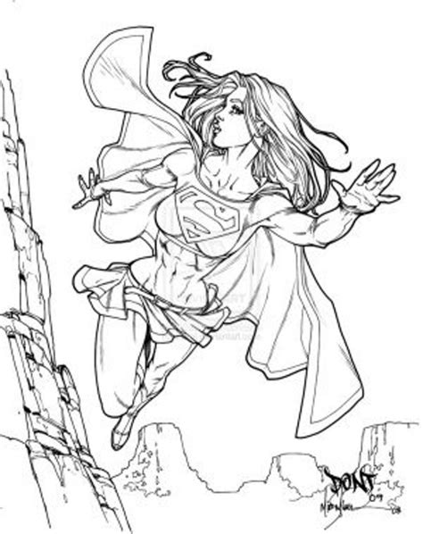 supergirl coloring pages coloring home