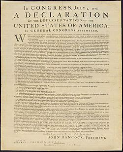 physical history of the united states declaration of