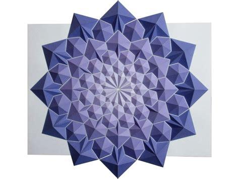 Colorful Origami - colorful origami mosaics by kota hiratsuka strictlypaper