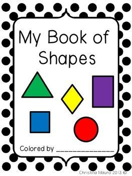 printable shapes book for preschool my books kindergarten and shape on pinterest