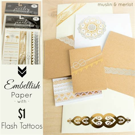 tattoo stencil paper walmart use 1 flash tattoos as paper embellishments muslin and