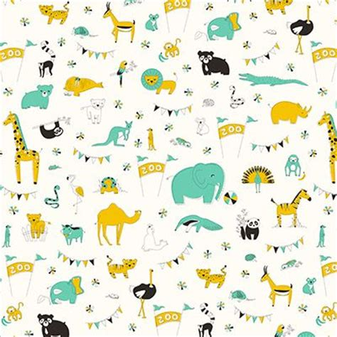 design pattern for zoo let s go to the zoo in green medium by liz ablashi for