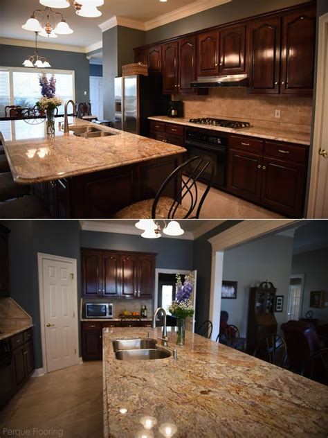 Beautiful, traditional kitchen with exotic granite