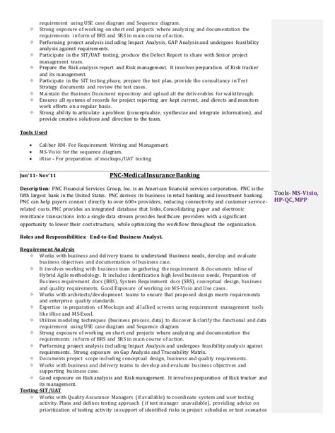 Sle Resume For Application Analyst Sle Resume For Business Analyst In Sdlc Phases For Project 100 Images Assistant
