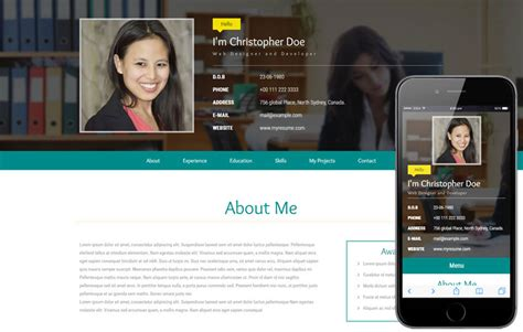 Personal Resume Website by My Resume A Personal Category Flat Bootstrap Responsive