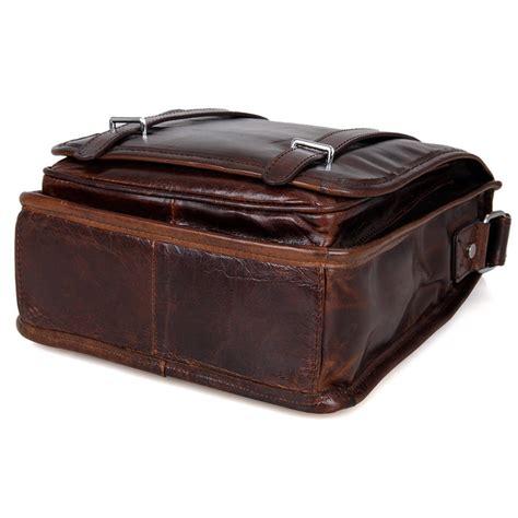 handmade vintage leather messenger bag cross bag