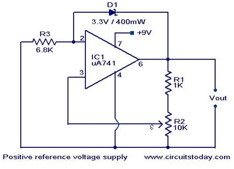 positive reference voltage generator electronic circuits