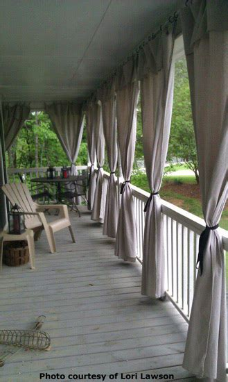 Porch Curtains Ideas Make Your Own Outdoor Curtain Panels
