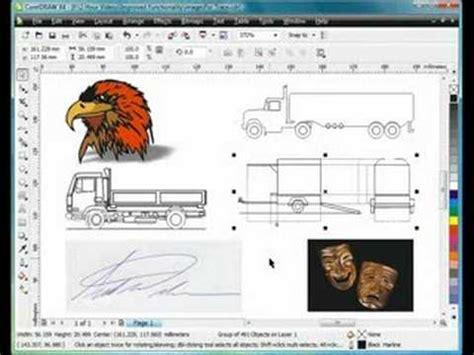 coreldraw tracing tutorial corel draw tutorials for coreldraw x5 vectorizing a b