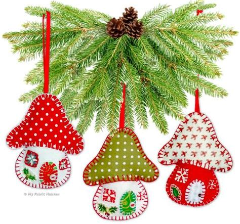 paper christmas ornaments patterns toadstool house ornaments 4 quot paper sewing pattern my fabric heaven