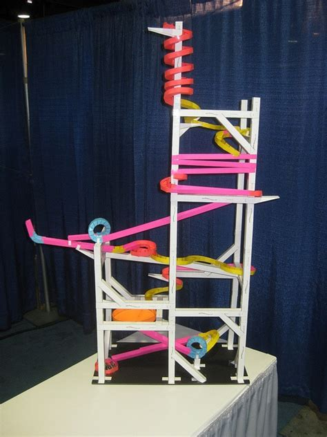 How To Make Paper Roller Coaster - the finished paper roller coaster by andrew