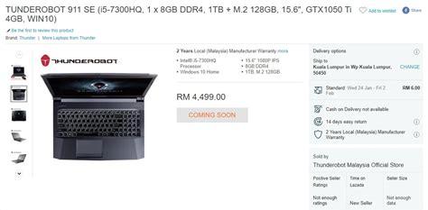 Laptop Jenama Apple Di Malaysia tanda harga laptop gaming thunderobot tertiris di laman lazada beberapa hari sebelum