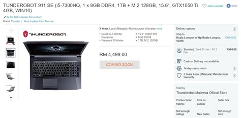 Pasaran Laptop Apple Di Malaysia tanda harga laptop gaming thunderobot tertiris di laman lazada beberapa hari sebelum