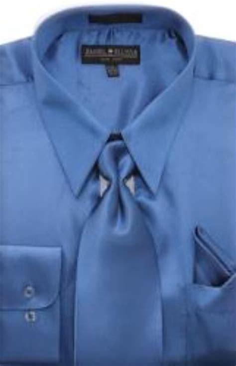 Blue Dress Shirt Tie by Silk Shirts For Shiny Dress Shirt For