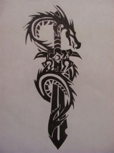 dragon sword tribal by ragdoll1283 on deviantart