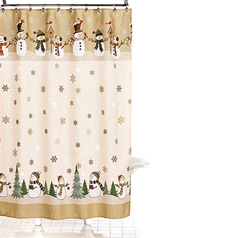 holiday shower curtain buy heartland snowman 70 inch x 70 inch shower curtain and