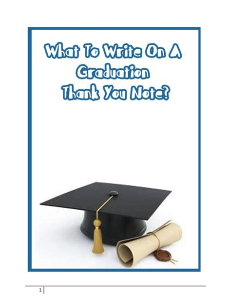 What To Write In A Graduation Thank You Card