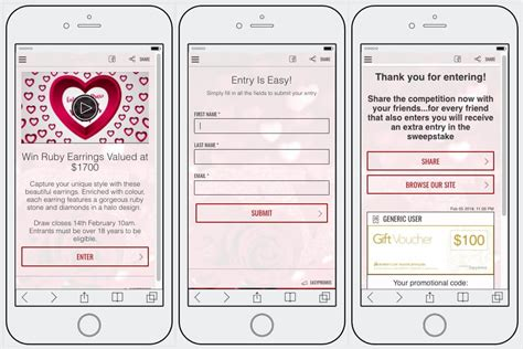 Giveaway Entry Form - how to create a valentine s giveaway on social media