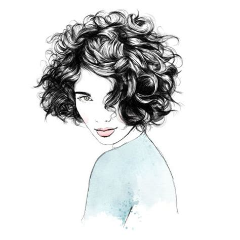 drawing of bob hair 6 haircuts for curls trends and tips for every curl type