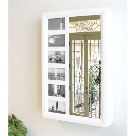 wall mount jewelry armoire white proman products bellissimo venice wall mount white jewelry