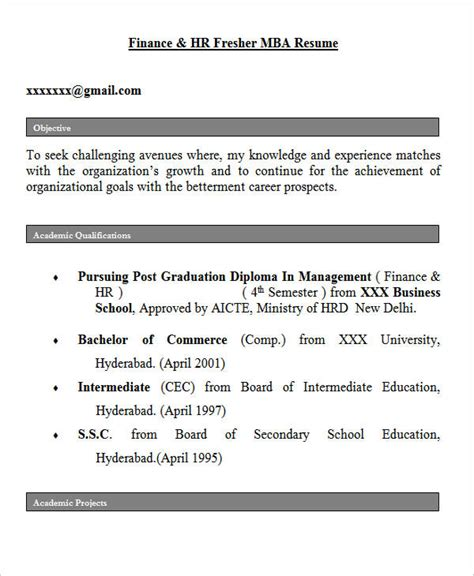 hr career objectives 28 free fresher resume templates free premium templates
