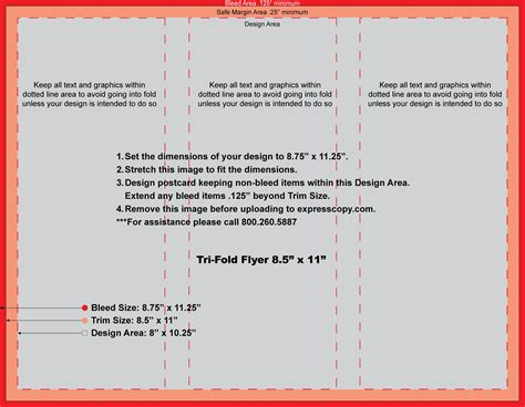 8 5 X 11 Card Template For Tri Fold Card by Trifold Flyer Professional And High Quality Templates
