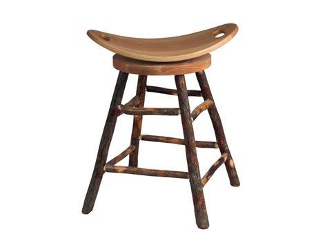 hickory bar stools amish hickory bar stool with swivel saddle seat