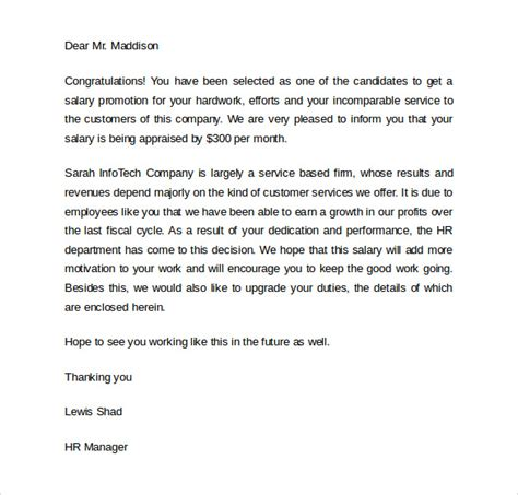 Employee Promotion Letter Pdf Sle Promotion Letter 8 Free Documents In Pdf Word