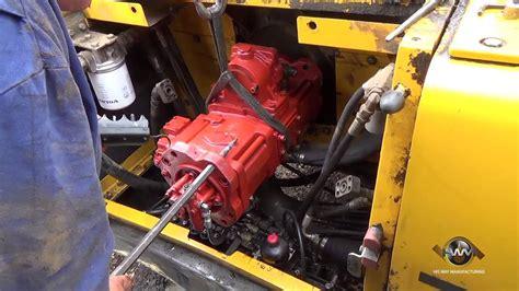 install  hydraulic pump   excavator youtube