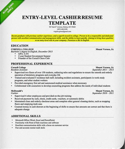 Student Resume Exles by Resume Objective For College Student Sle Resume For
