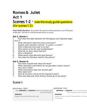 themes in romeo and juliet act 1 scene 2 calam 233 o romeo juliet act 1 scenes 1 2
