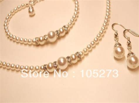 Handmade Pearl Jewellery - wholesale handmade pearl jewelry set white pearl